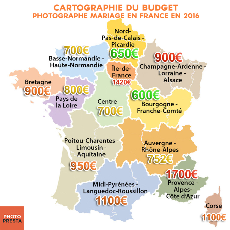 Carte de france photographes